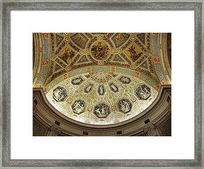 Framed Print featuring the photograph Morgan Library Rotunda by Jessica Jenney