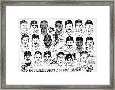 Morgan Magic And The East Championship Newspaper Poster Framed Print by Dave Olsen
