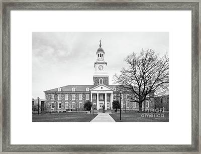 Morgan State University Holmes Hall Framed Print by University Icons