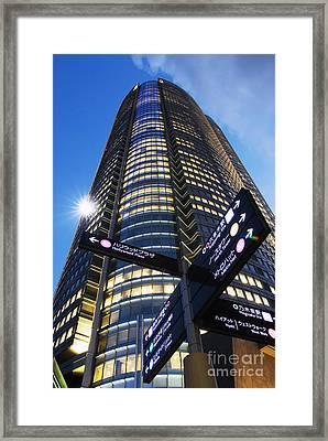 Mori Tower Framed Print by Bill Brennan - Printscapes