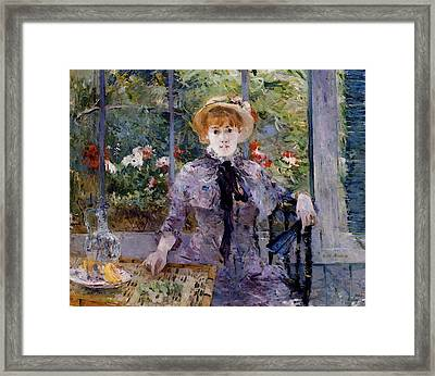Morisot Berthe After Luncheon Framed Print by Berthe Morisot