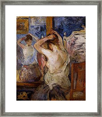 Morisot Berthe Before The Mirror Framed Print by Berthe Morisot