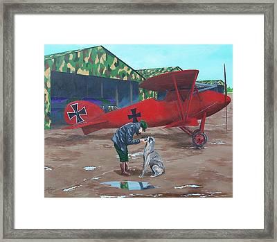 Moritz And Richthofen Framed Print by Gene Ritchhart
