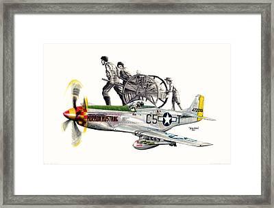 Mormon Mustang - Pioneering History Framed Print by Trenton Hill