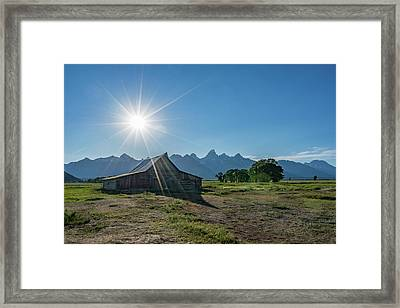 Mormon Row Framed Print