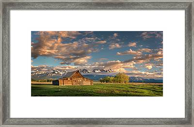 Mormon Row At Sunrise Framed Print by Michael Ash