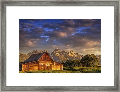 Mormon Row Barn Framed Print by Andrew Soundarajan