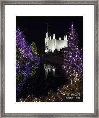 Mormon Temple 1 Framed Print