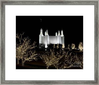 Mormon Temple 2 Framed Print
