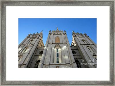 Mormon Temple Framed Print by David Lee Thompson