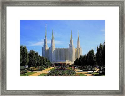 Mormon Temple Dc Framed Print