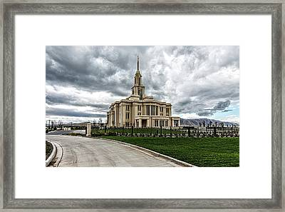 Mormon Temple Payson Utah Framed Print by James Hammond