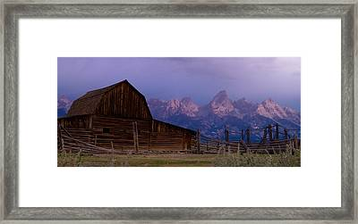 Mormon Village Framed Print