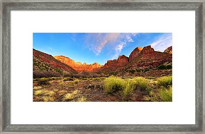 Morning Above Virgin Framed Print