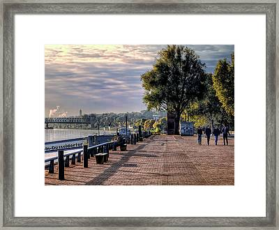 Framed Print featuring the photograph Morning Along The Rhine by Jim Hill