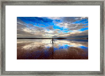 Morning Arrival At Lake Ballard Framed Print