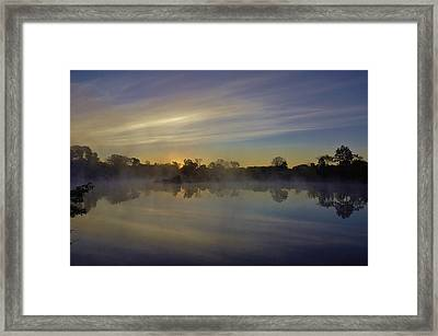 Morning Arrives At The Red Granite Quarry Framed Print by Carol Toepke