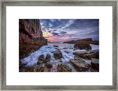 Morning At Bald Head Cliff Framed Print