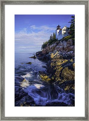 Morning At Bass Harbor Lighthouse Framed Print
