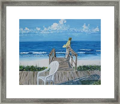 Morning At Blue Mountain Beach Framed Print by John Terry