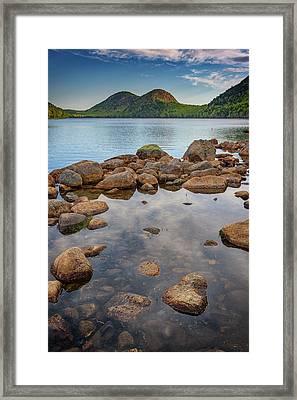 Morning At Jordan Pond Framed Print by Rick Berk