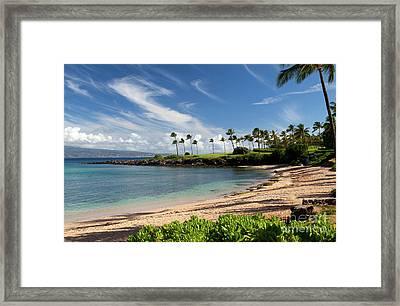 Morning At Kapalua Bay Framed Print