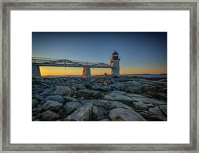 Morning At Marshall Point Framed Print