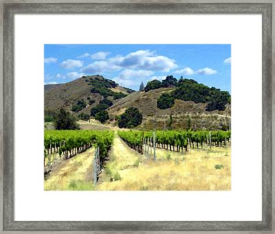 Morning At Mosby Vineyards Framed Print by Kurt Van Wagner