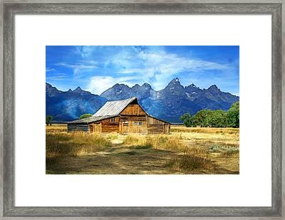 Morning At Moulton Barn Framed Print by Marty Koch