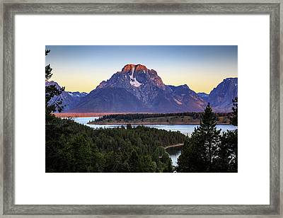 Morning At Mt. Moran Framed Print
