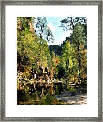 Morning At Oak Creek Arizona Framed Print by Kurt Van Wagner