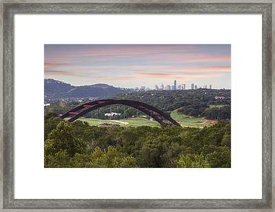 Morning At The 360 Bridge Near Austin Texas 1 Framed Print