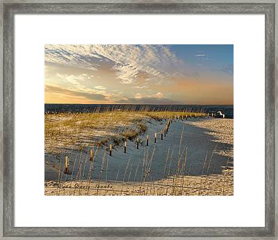 Morning At The Beach Framed Print by Wynn Davis-Shanks