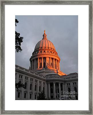 Morning At The Capitol Framed Print by David Bearden
