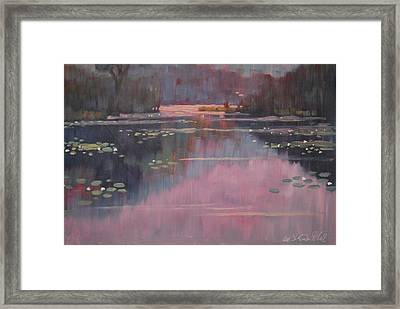 Morning At The Forth Pond Framed Print