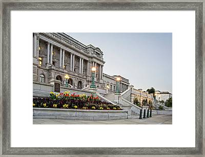 Framed Print featuring the photograph Morning At The Library Of Congress by Greg Mimbs
