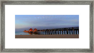 Morning At The Naples Pier Framed Print