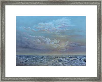 Morning At The Ocean Framed Print by Luczay