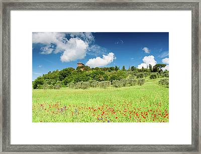 Morning At The Palazzo Framed Print by Michael Blanchette
