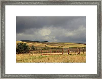 Morning At The Tallgrass Prairie Framed Print