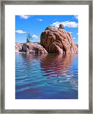 Morning At Watson Lake Framed Print by Dominic Piperata