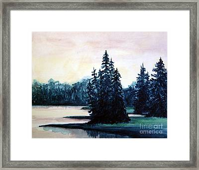 Morning At Yellowstone Lake Framed Print