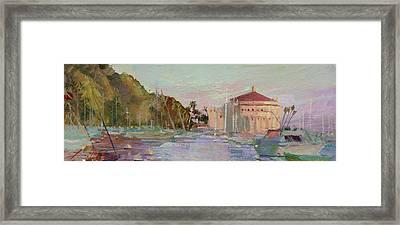 Morning Avalon Harbor - Catalina Island Framed Print