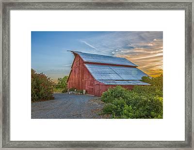 Morning Barn Framed Print