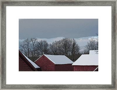 Morning Barnscape Framed Print