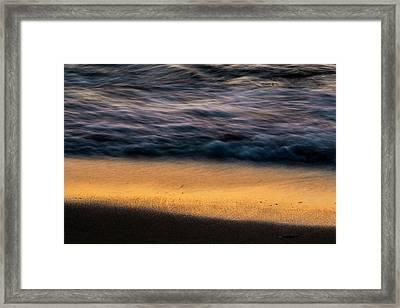 Morning Beach Abstract  Framed Print by Sven Brogren