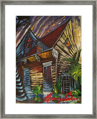 Framed Print featuring the painting Morning Before The Storm by Amzie Adams