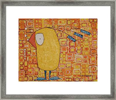 Framed Print featuring the painting Morning Bird by Donna Howard