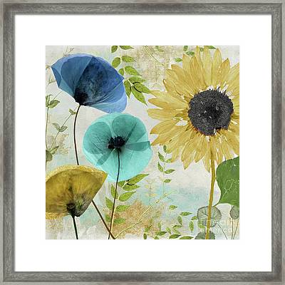 Morning Blue II Framed Print by Mindy Sommers