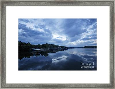 Morning Blues I Framed Print